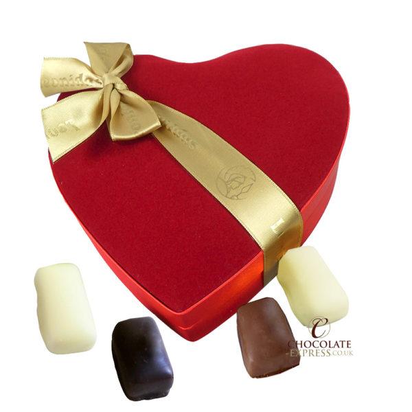 12 Assorted Manon Velvet Heart