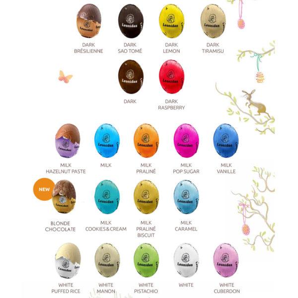 WHITE Easter Egg Shell & 20 Mini Eggs
