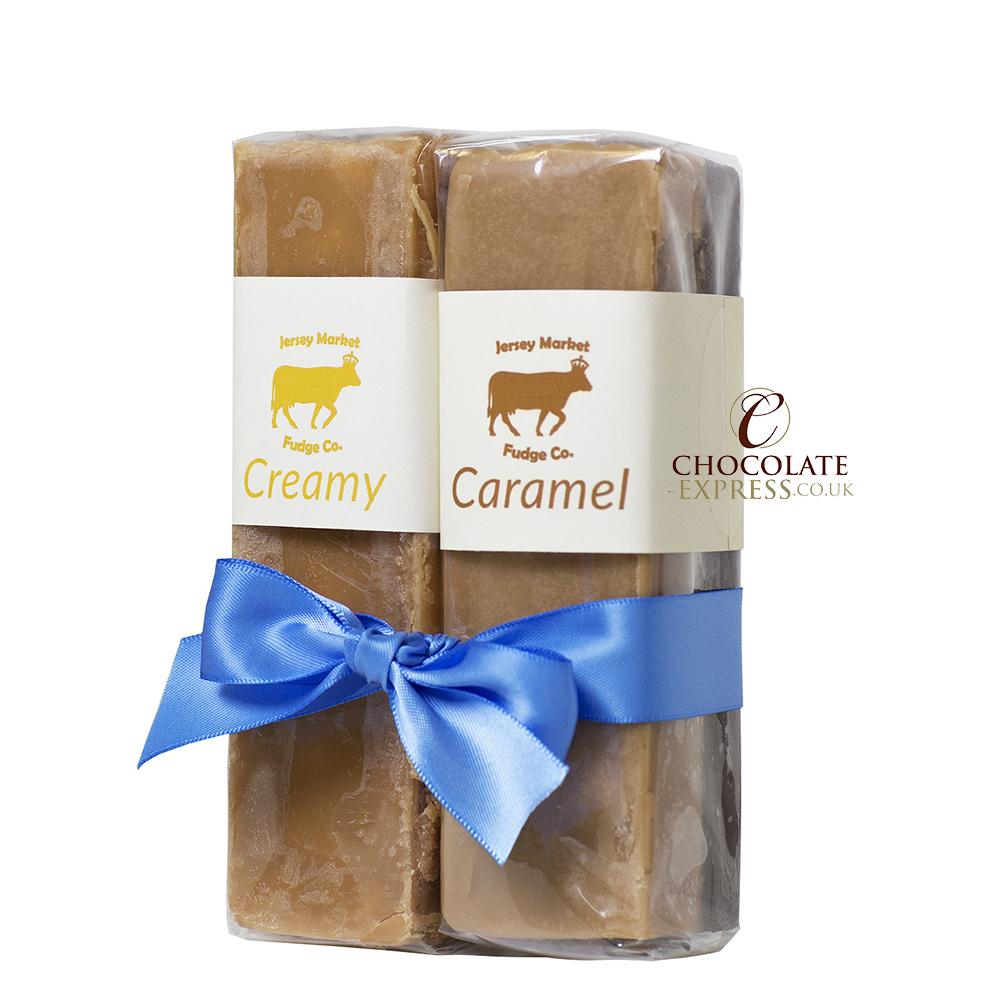 Creamy & Caramel Fudge Slabs