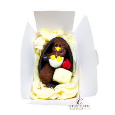Leonidas Dark Egg Shell,  8 Assorted Chocolates & Easter Figure