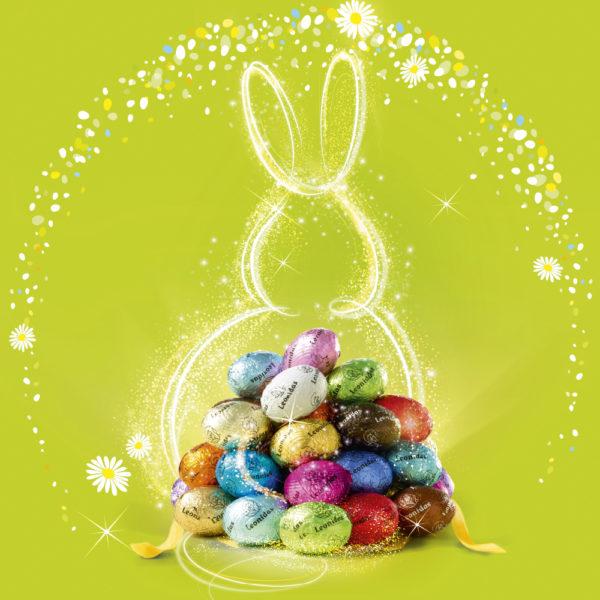 Leonidas Easter Figures & 20 Mini Eggs in Gift Bags