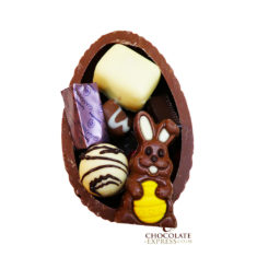 Leonidas Milk Egg Shell, 8 Assorted Chocolates & Easter Figure