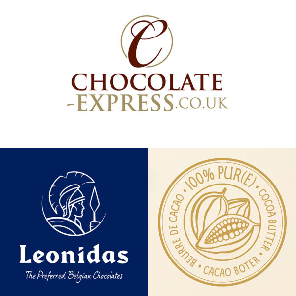 5 Leonidas Milk & White Chocolate Lollies