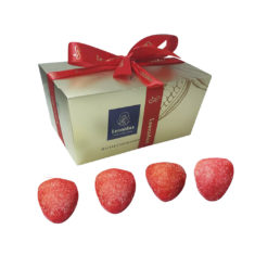 12 Fraise, Sugared Strawberry Marzipan