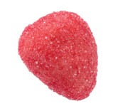 22 Fraise, Sugared Strawberry Marzipan