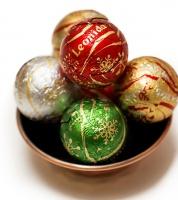 35 Assorted Large Praline Christmas Balls