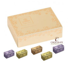 24 Mixed Praline Gia's in Embossed Golden Box