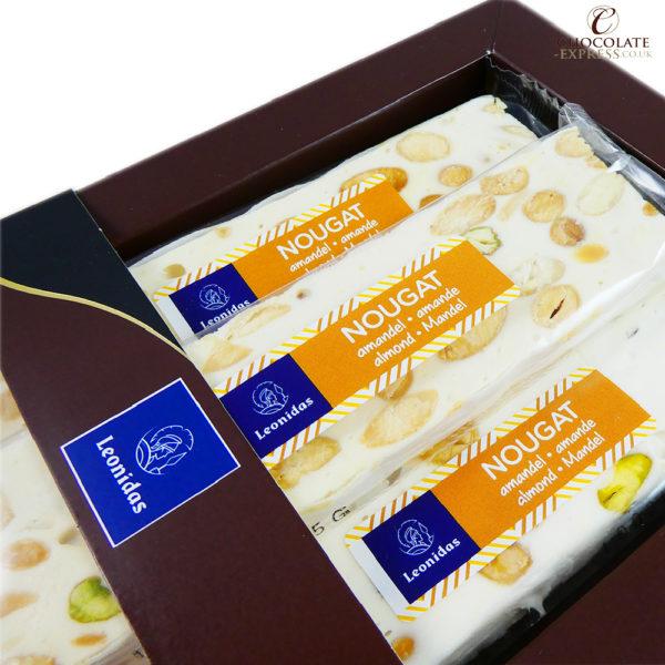 3 Soft Leonidas Nougat Bars with Almond