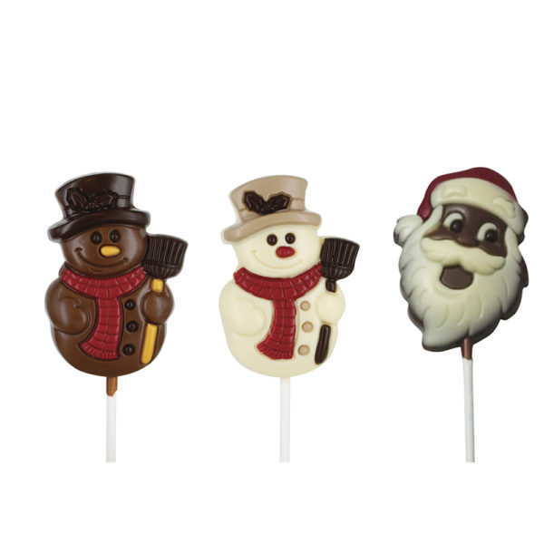 5 Chocolate Christmas Lollies, Ideal Christmas Party Treats
