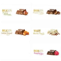 5 Self Select Leonidas Bars, 8 Flavours