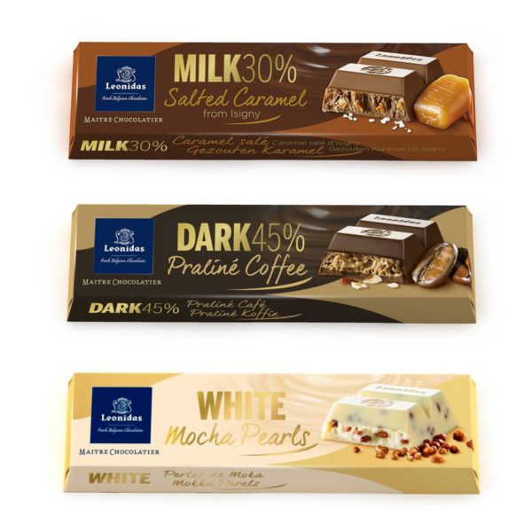 5 Self Select Leonidas Bars, 8 Flavours