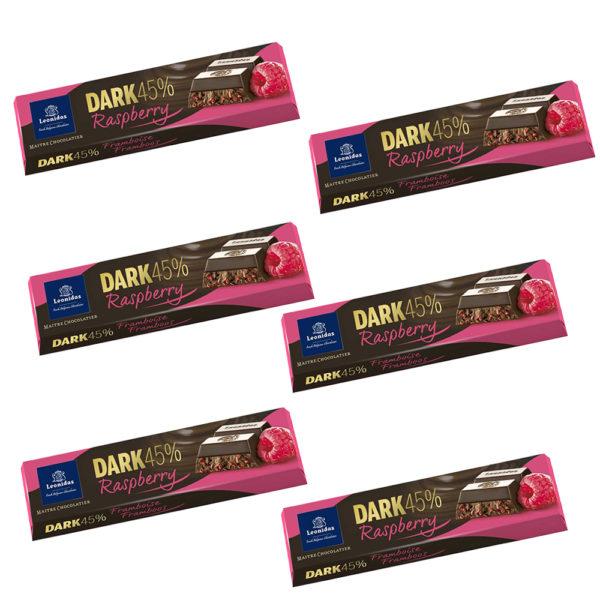 6 Raspberry and Dark Bars
