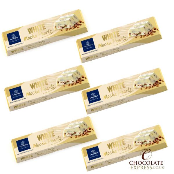 6 White Chocolate And Mocha Pearls Bars