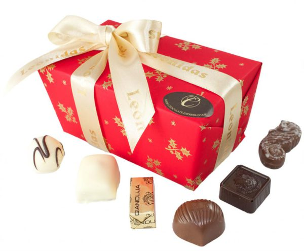 35 Assorted Leonidas Chocolates, Christmas Wrapping