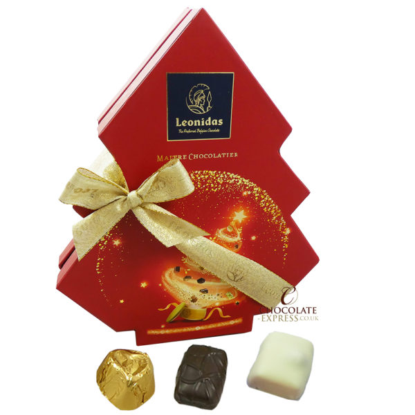 11 Assorted Leonidas Chocolates Festive Tree Box,