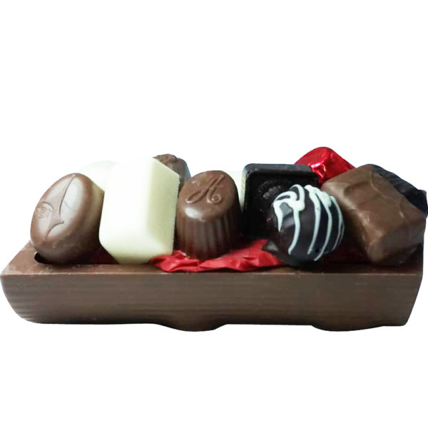 Leonidas Yule Log, 10 Choose Your Own & Milk or Dark Shell
